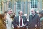 With Hubert Humphrey, 1975