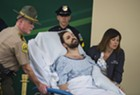 Steven Bourgoin being wheeled into his arraignment at the UVM Medical Center last week