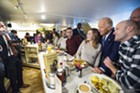 Vice President Joe Biden greets diners Friday morning at Penny Cluse Cafe in Burlington