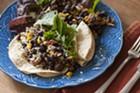 Taco time: lamb merguez sausage, salsa succotash