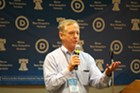 Former governor Howard Dean at the Democratic National Convention in Philadelphia