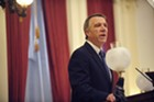 Gov. Phil Scott gives his budget address Tuesday