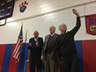 Sanders, Leahy & Welch greet the crowd
