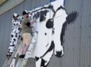 Muralist DJ Barry Brings World Cow to Montpelier