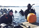 Deep Cuts: Divers Carve Pumpkins Under Water in Lake Champlain