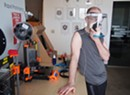 Generator Maker Space Prototyping Face Shields for Hospitals
