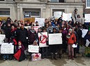 In St. Albans March, Black Lives Matter VT Decries School Racism
