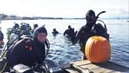 Deep Cuts: Divers Carve Pumpkins Under Water in Lake Champlain