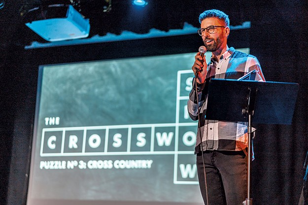 The Crossword Show With Zach Sherwin Gets Down And Across At Artsriot Comedy Seven Days Vermont S Independent Voice