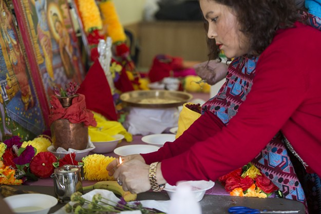 Saraswati Puja at the O'Brien Center