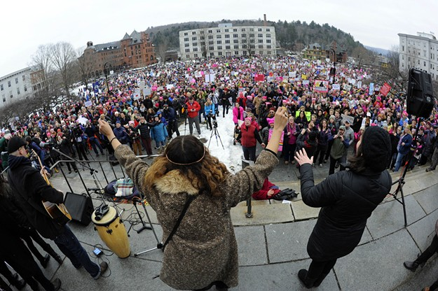 Photos From the Women's March on Montpelier