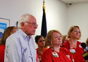 Sanders Speaks Out for UVM Medical Center Nurses