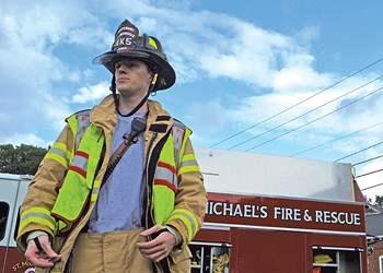 Saint Michael's Students Embrace Grown-Up Fire and Rescue Roles