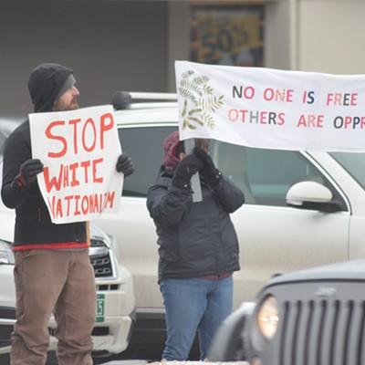 Images From Burlington Anti-Fascist Rally