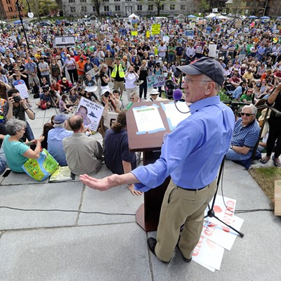 Images From the Climate Protest in Montpelier