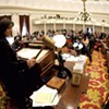 House Speaker Mitzi Johnson gaveling in the new legislative session