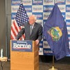 Sanders speaking to reporters Thursday in Burlington