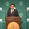 UVM president Suresh Garimella during Monday's press conference