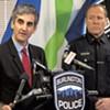 Mayor Miro Weinberger (left) and acting Chief Jon Murad