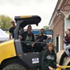 South End Artist Hosts Steamroller Printmaking Event