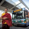 A Buddhist Monk Is Driving the Bus