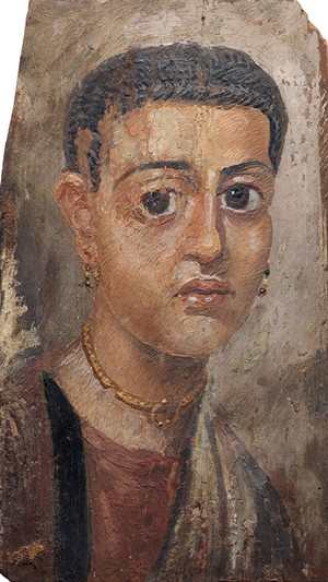 COURTESY OF MIDDLEBURY COLLEGE MUSEUM OF ART - Portrait from Fayum, Egypt