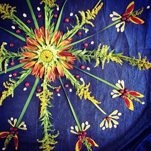 COURTESY OF VERMONT NATURE MANDALA - Photograph of mandala by Michelle Wallace