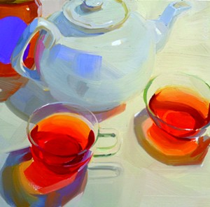 "COURTESY OF EDGEWATER GALLERY - ""Tea With Russel's Honey"" by Karen O'Neil"