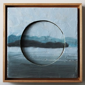 """COURTESY OF THE S.P.A.C.E. GALLERY - """"Theory of Relativity"""" by Jessie Polk"""