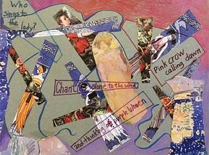 COURTESY OF MAIN STREET ARTS - Collaborative collage by poet Gordon Korstange and painter Matt Peake