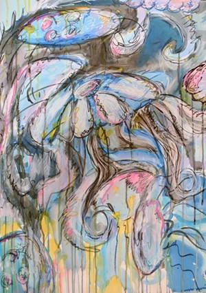 "COURTESY OF BRYAN MEMORIAL GALLERY - ""Jellyfish Flow"" by Jen Volansky"