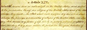 Copy of the 14th Amendment - Uploaded by Friends of the Morrill Homestead