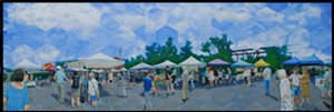 "COURTESY OF GOVERNOR'S GALLERY - ""Montpelier Farmers Market"" by Nick DeFriez"