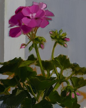 "COURTESY OF FURCHGOTT SOURDIFFE - ""Pink Geranium"" by Kate Longmaid"