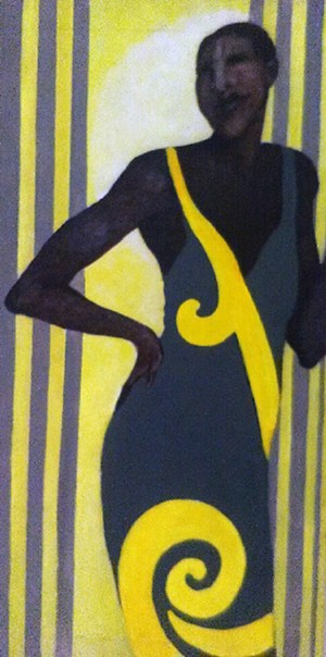 COURTESY OF STRAND CENTER FOR THE ARTS - Untitled painting by S. Booker