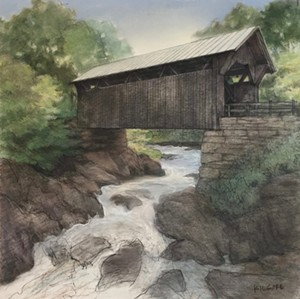 "COURTESY OF JESS KILGORE - ""Gold Brook Covered Bridge"" by Jess Kilgore"