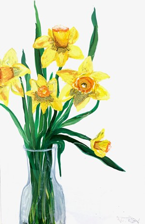 "COURTESY OF EDGEWATER GALLERY - ""Daffodils"" by Travis Roy"