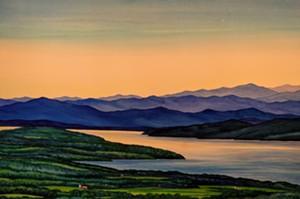 """COURTESY OF DEBORAH HOLMES - """"Twilight, Mt. Philo"""" by Deborah Holmes"""