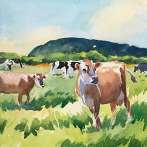"COURTESY OF SARAH DAMSELL - ""Farm at Wheeler Mountain"" by Ruth Kaldor"