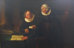 """The Shipbuilder and His Wife, After Rembrandt"" by T.W. Wood - Uploaded by T. W. Wood Gallery"