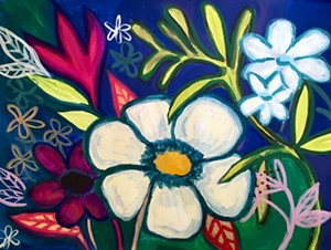 """COURTESY OF THE GALLERY COOPERATIVE - """"Navy,"""" painting by Amy Guglielmo"""