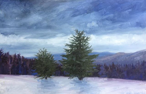 Painting by Lydia Gatzow - Uploaded by The Hive Vt