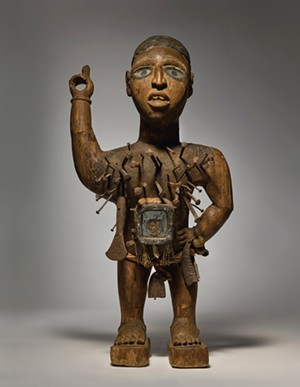 COURTESY OF MIDDLEBURY COLLEGE MUSEUM OF ART - Kongo-Vili power figure from Democratic Republic of Congo, 19th century