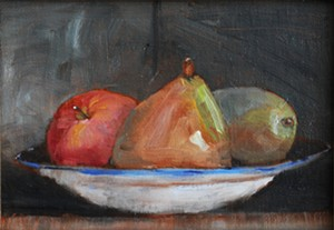 "COURTESY OF NEK BACKROOM GALLERY - ""Apple, Pears"" by Susan McClellan"