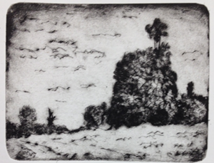"""""""Greensboro,"""" a drypoint print by Phillip Robertson - Uploaded by Katlin Parenteau"""