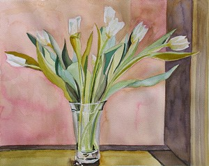 """COURTESY OF CHELSEA PUBLIC LIBRARY - """"White Tulips"""" by Marcia Hammond"""