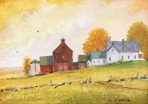 "COURTESY OF GREEN MOUNTAIN FINE ART GALLERY - ""Extension House"" by John Clarke Olson"