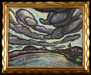 """COURTESY OF SHELBURNE MUSEUM - """"Clouds - Upper Ausable Lake"""" by Harold Weston"""