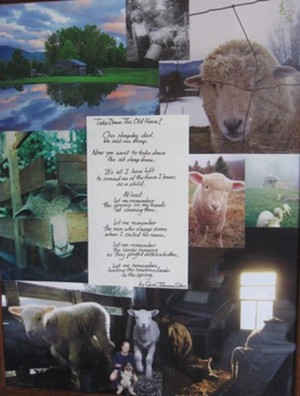 COURTESY OF WATERBURY PUBLIC LIBRARY - Montage of poetry and photographs by Carol Collins