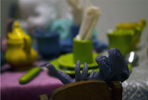 """COURTESY OF BRIAN COLLIER - Installation view of """"Bad Kids"""" by Megan Hjerpe"""
